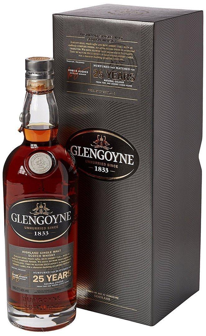 Gordons Sloe Gin >> Glengoyne 25 Years Old The First Fill Single Malt Scotch ...